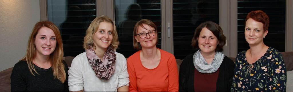 v.l. n.r. Christine Hahn, Marina Kiesinger, Swantje Marcard, Elke Birk, Regine Blühmann